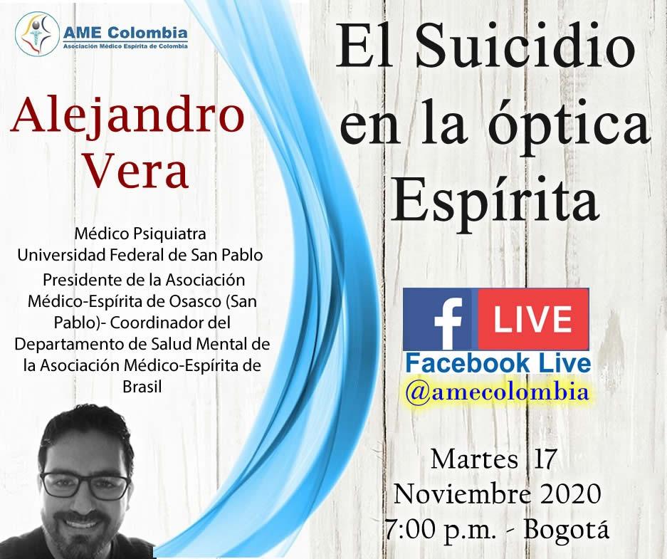 video de la conferencia El Suicidio en la óptica Espírita. Alejandro Vera Noviembre 17 2020