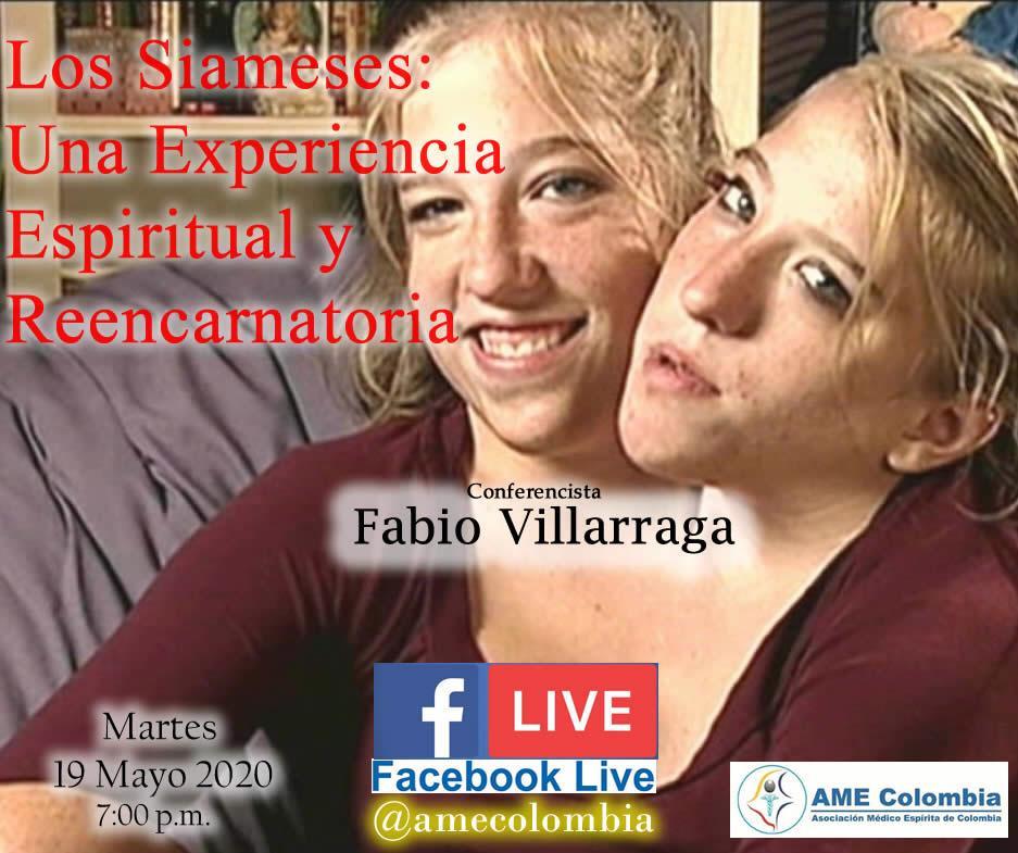 video de la conferencia Los Siameses: una experiencia Espiritual y Reencarnatoria
